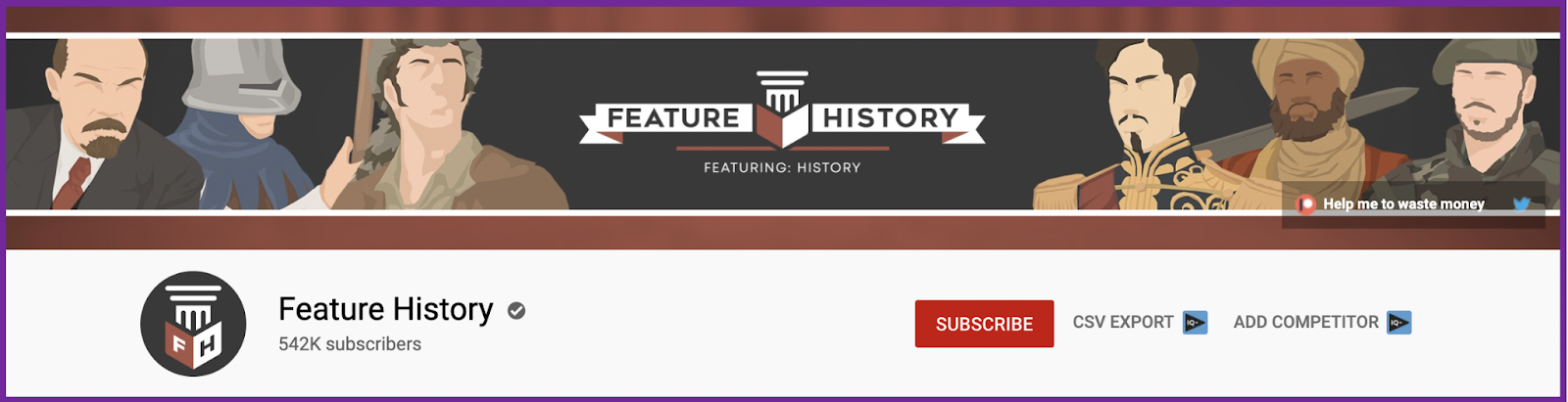 Screenshot-of-Feature-History's-YouTube banners ideas