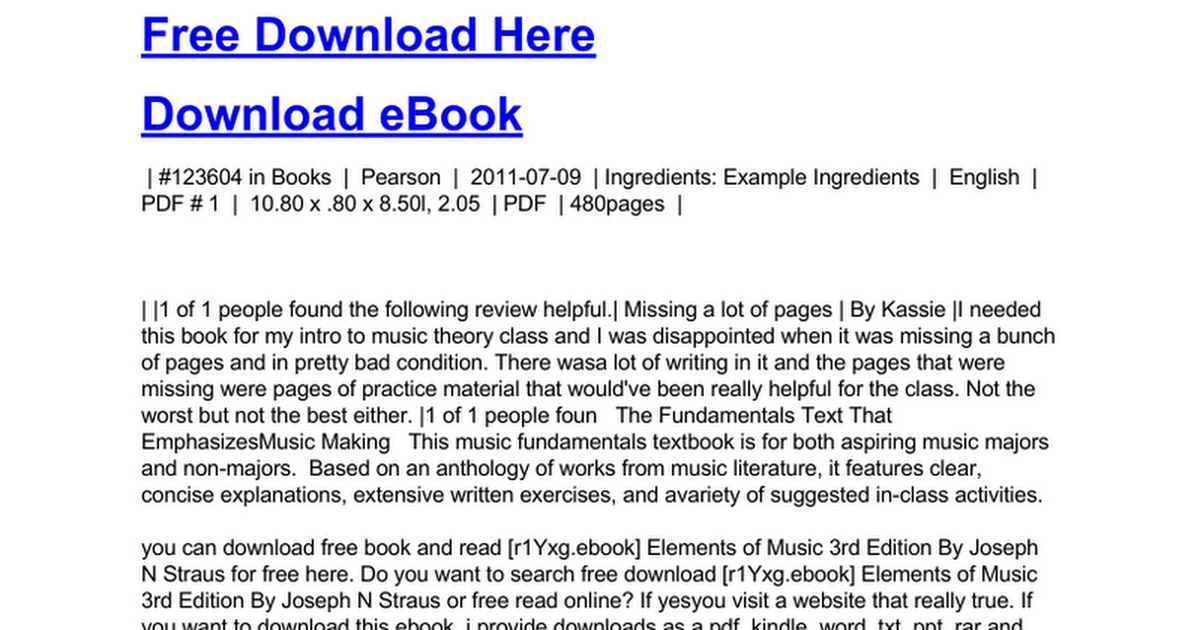 elements-of-music-3rd-edition doc - Google Drive