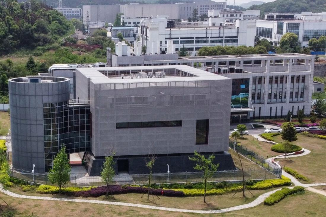 Một cảnh trên không cho thấy phòng thí nghiệm P4 tại Viện Virus học Vũ Hán ở Vũ Hán, thủ phủ tỉnh Hồ Bắc, Trung Quốc vào ngày 17/4/2020. (Hector Retamal / AFP / Getty Images)
