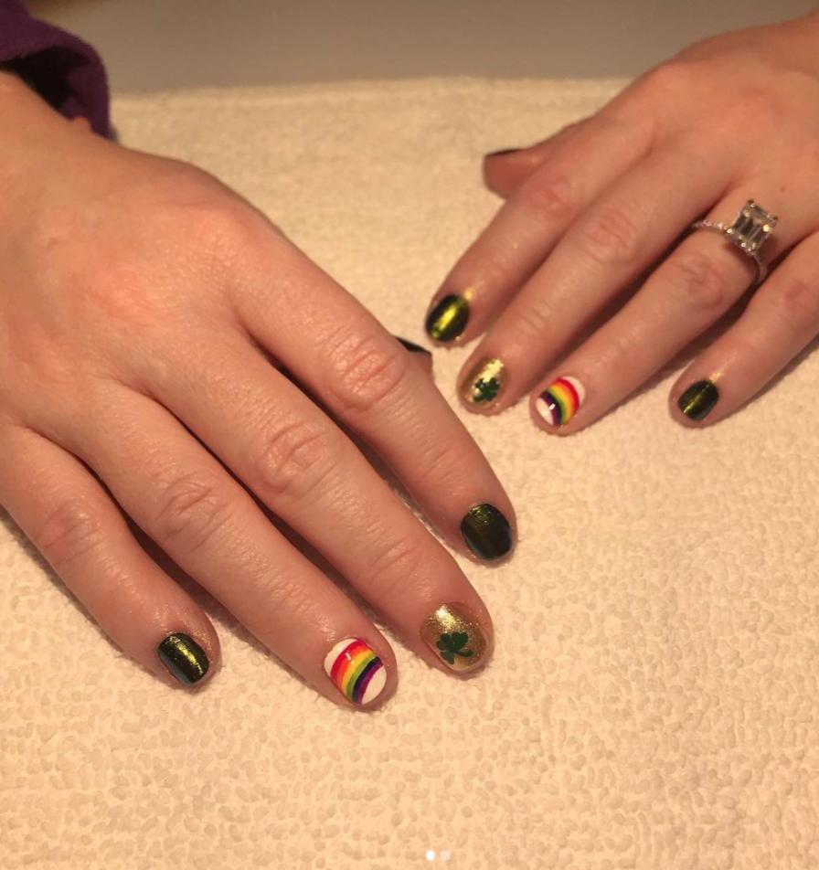 st patricks nail art