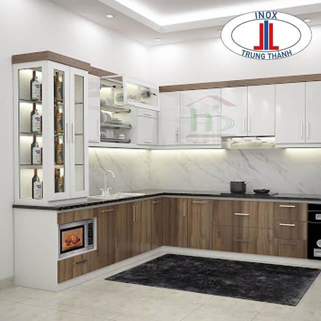 Mẫu thiết kế tủ bếp góc chéo