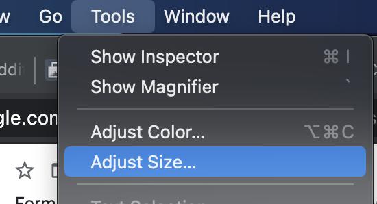 adjust image size