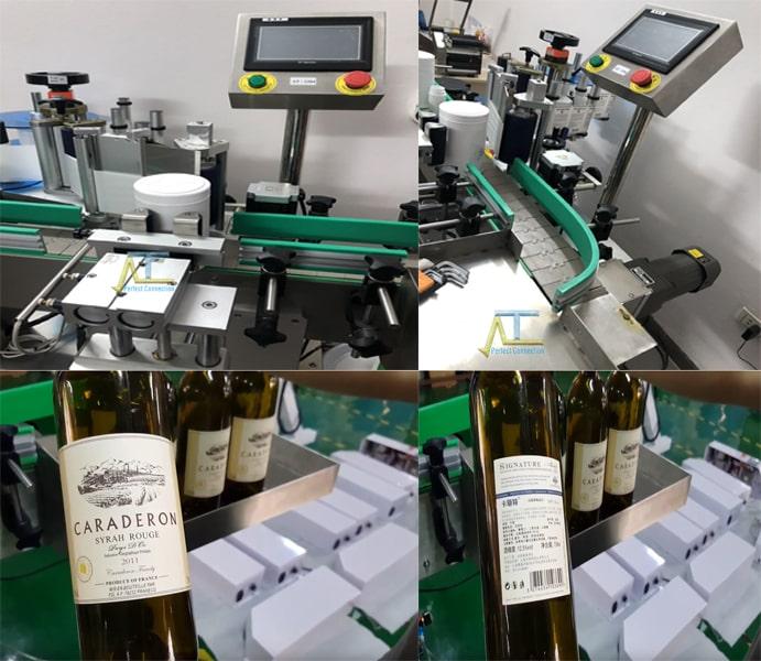 máy dán nhãn chai tròn tự động dán 1-2 nhãn tùy ý