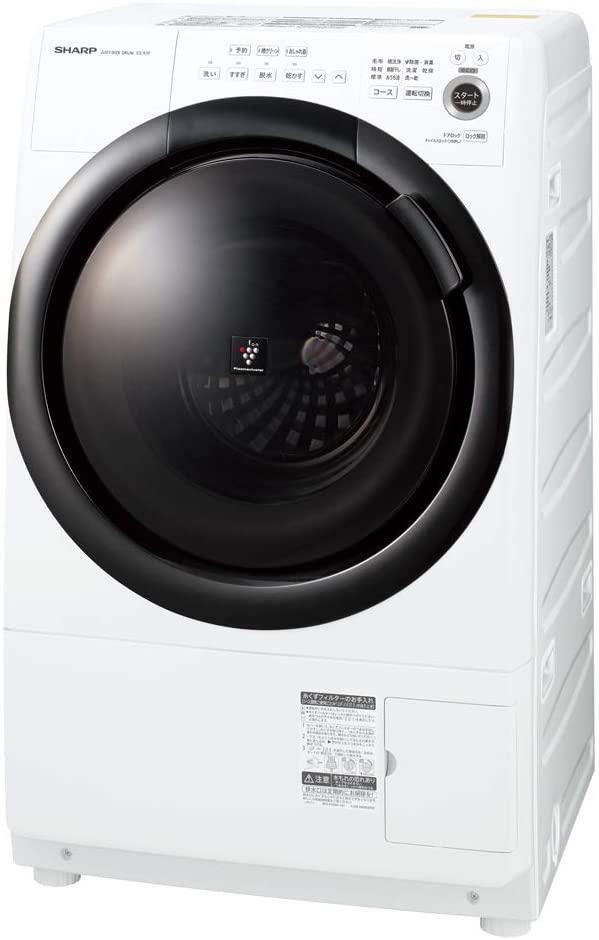 シャープ ドラム式 洗濯乾燥機ES-S7F-WL