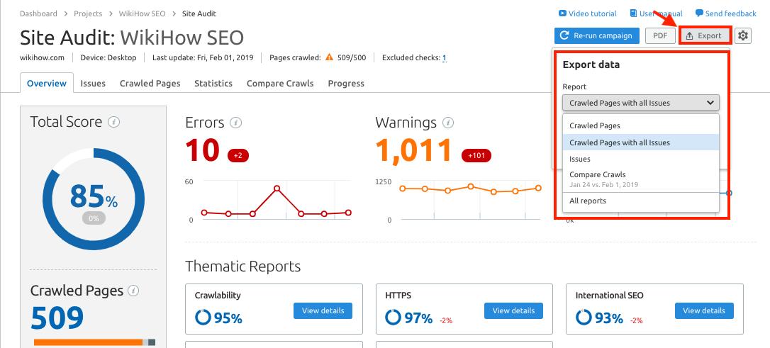 Semrush Site Audit - Truths