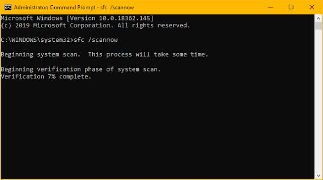 Como consertar itens de registro quebrados no Windows 10 System File Checker sfc scan command