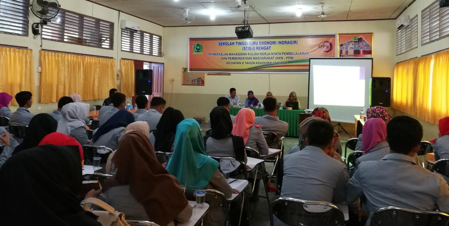 Seminar KKN-PPM STIE Indragiri Rengat Angkatan XI TA. 2017/2018