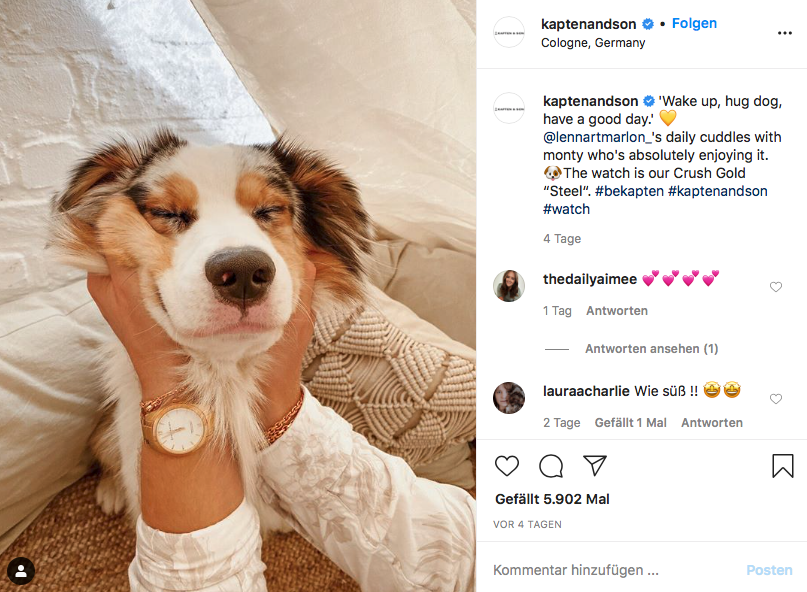 instagram social media post idee von kaptenandson