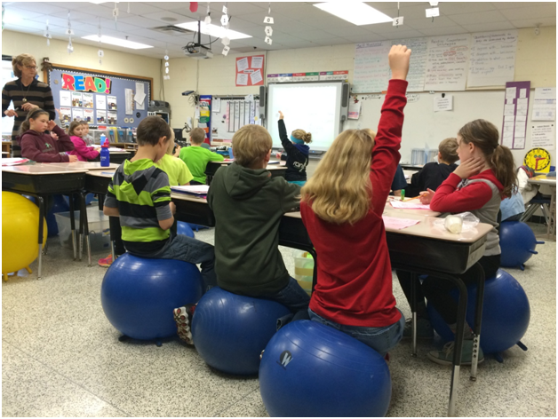 Stabilityball, stability chair, ball chair, classroom ball chair