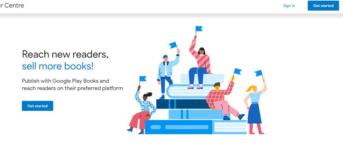 homepage pendaftaran akun google play book