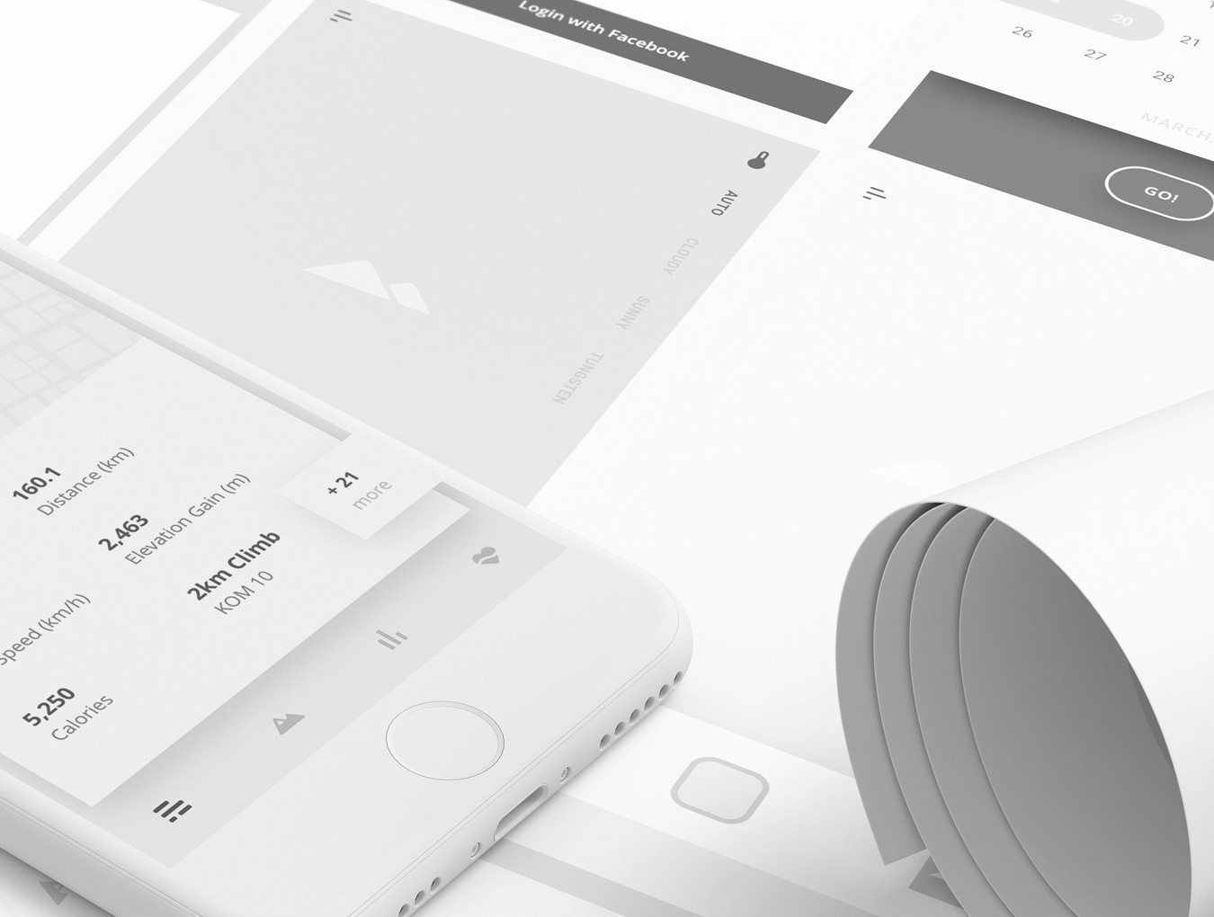 Sample assets from ui8's XD UX wireframing kit.