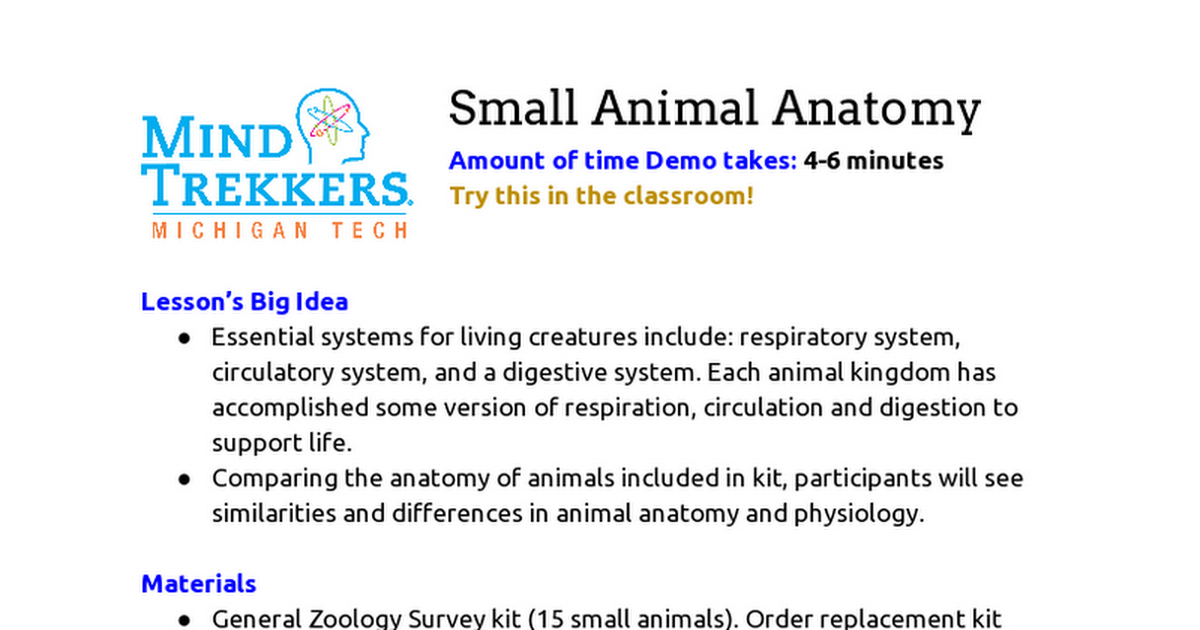 Perfect Small Animal Anatomy Component - Anatomy And Physiology ...
