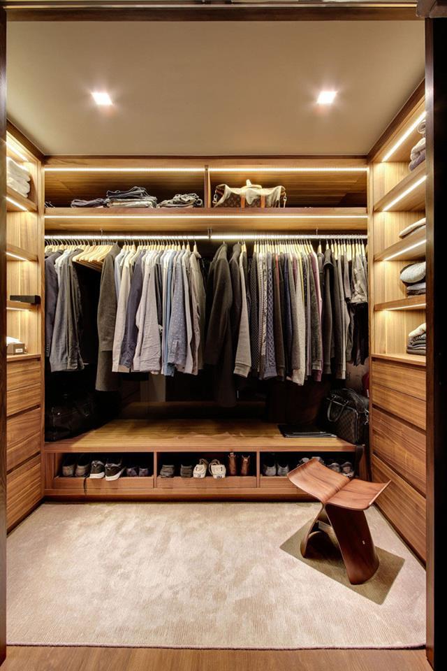 Hạn chế ngăn kéo tủ trong phòng thay đồ