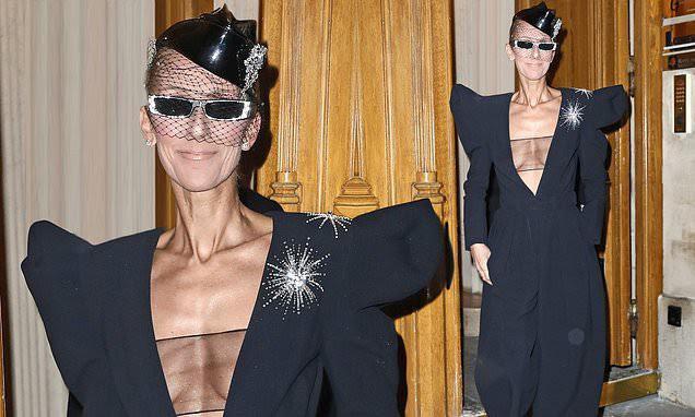 Celine Dion lại gây sốc khi diện váy xẻ sâu khoe ngực với cơ thể nhăn nheo - ảnh 2