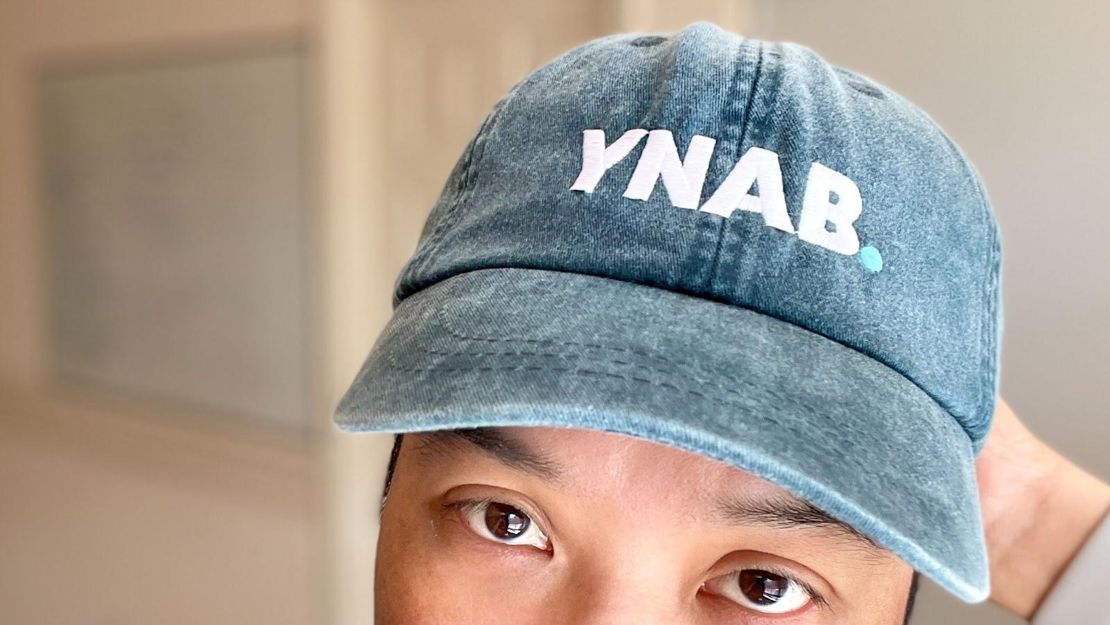 Daniel rockin' his YNAB dad-hat.
