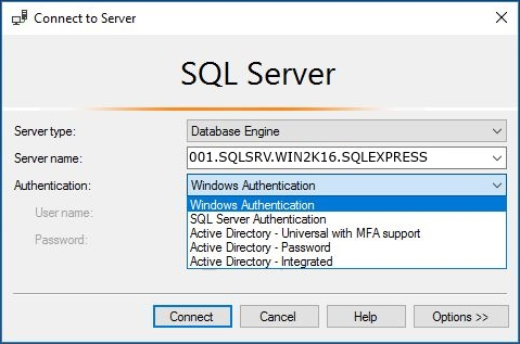 connect to mssql server