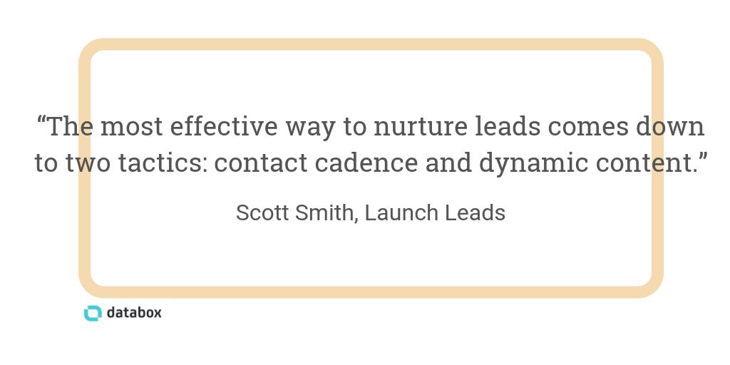 most effective ways to nurture leads
