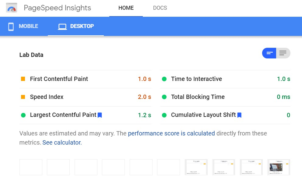 PageSpeed Insights analyzes site performance and offers suggestions for rectification.