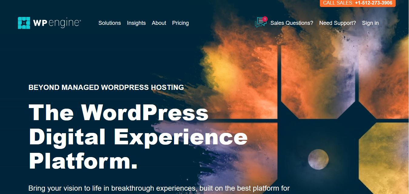WP Engine Cloud hosting for wordpress