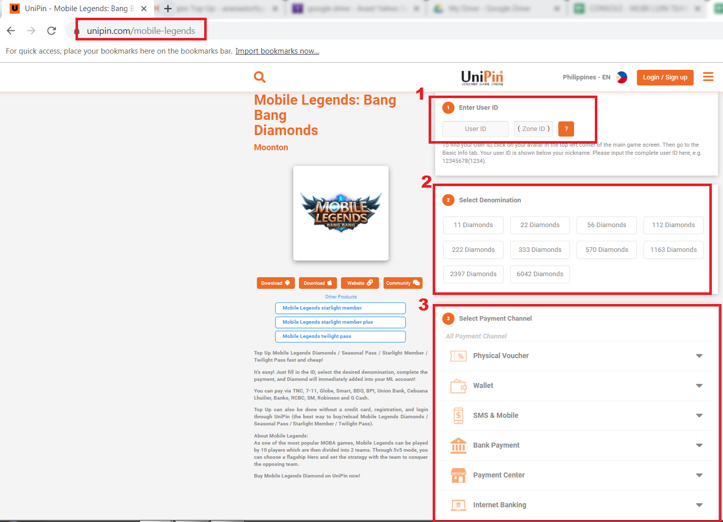 Mobile Legends Payment Guide PH | PinoyGamer