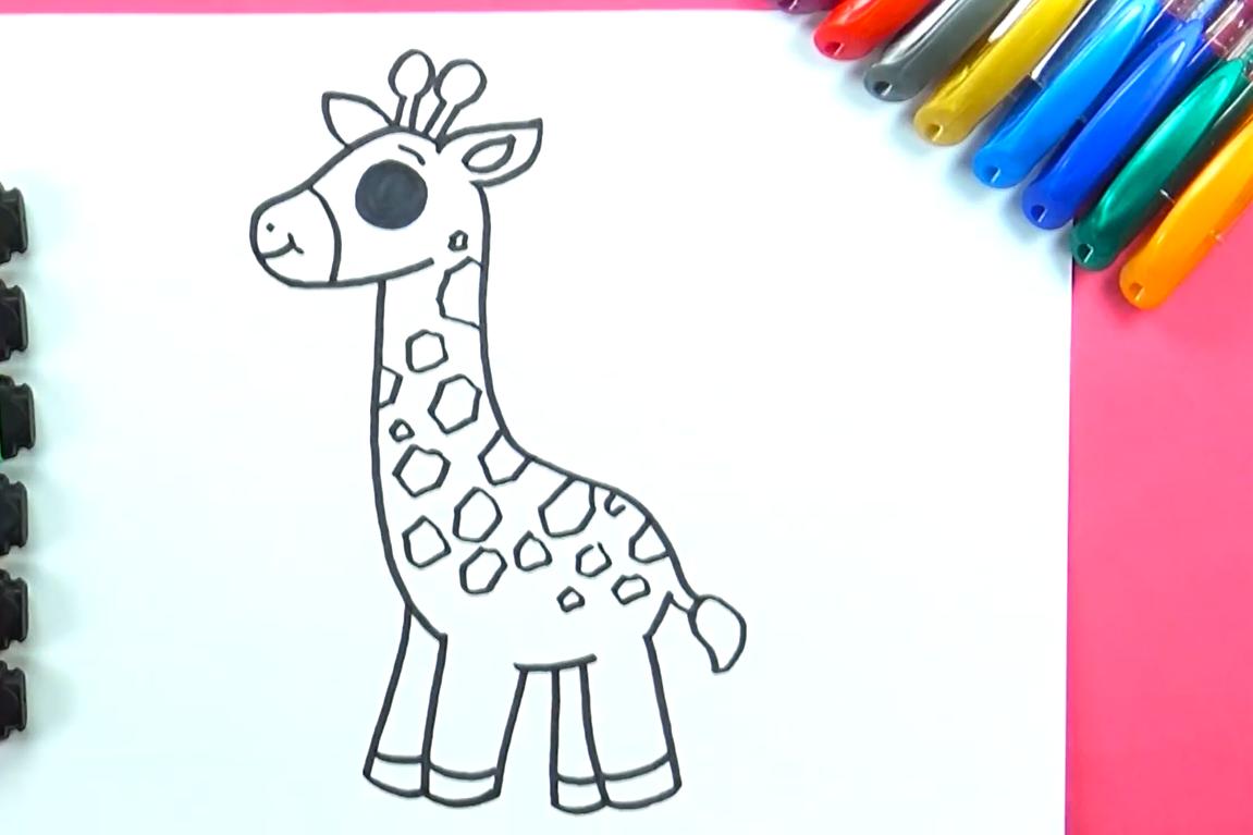 dibujo de jirafa kawaii
