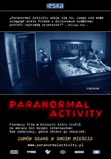 Polski plakat filmu 'Paranormal Activity'