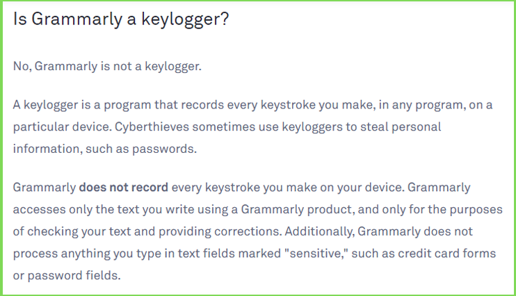 grammarly security