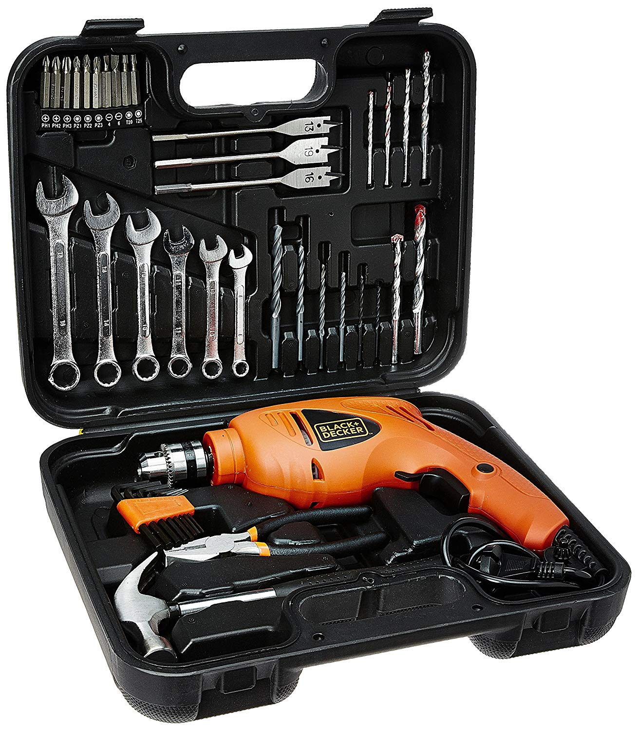 BLACK+DECKER HD455KA 10mm Impact Drill Kit
