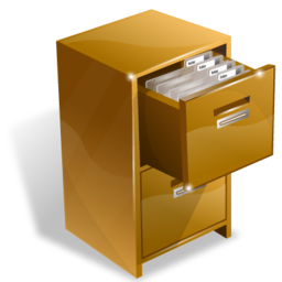 A filing cabinet full of files full of documents...