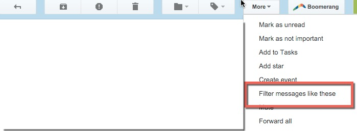 Filtering Messages in Gmail