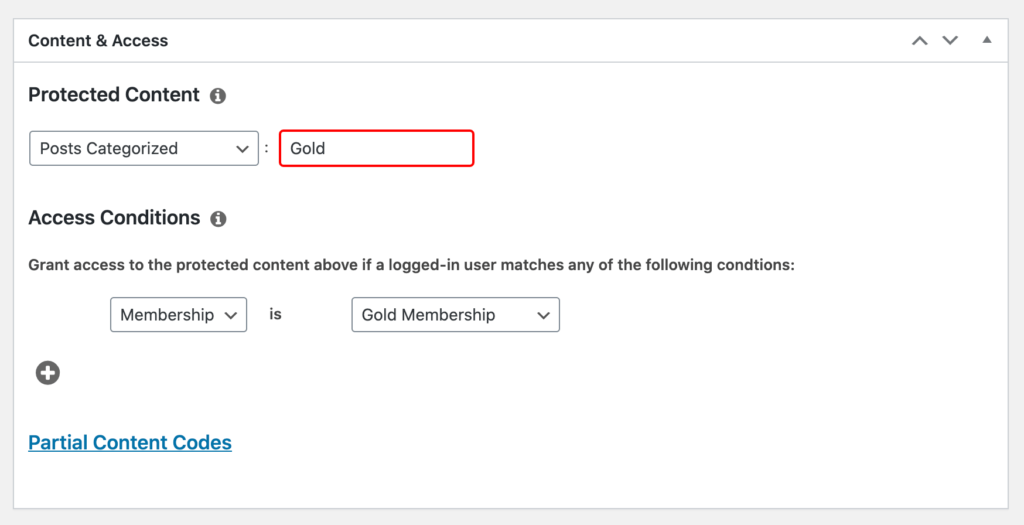 MemberPress' rules and access conditions WordPress menu.