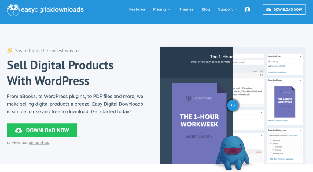 Easy Digital Downloads is a platform for small businesses.