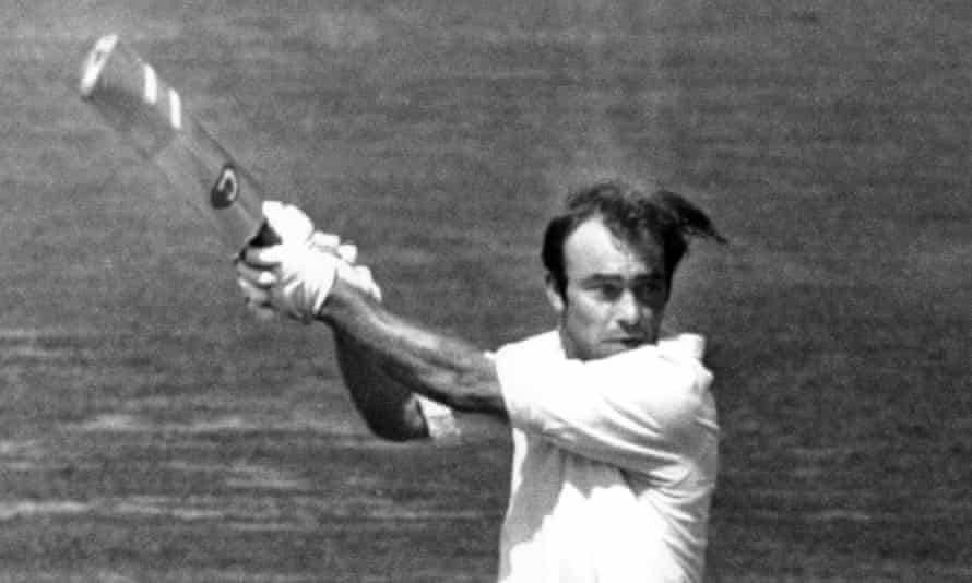 John Edrich in action for England against Pakistan during the second Test match at Lord's in 1974.