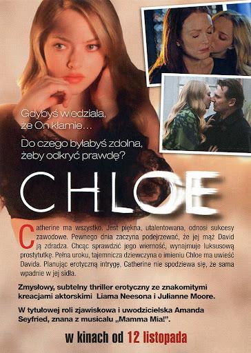 Tył ulotki filmu 'Chloe'