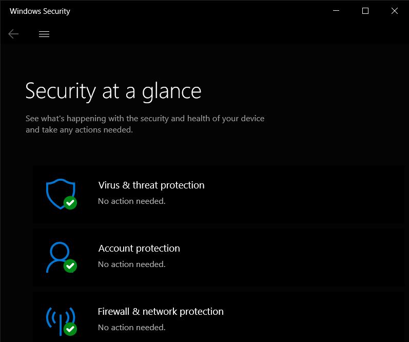 Windows Security application