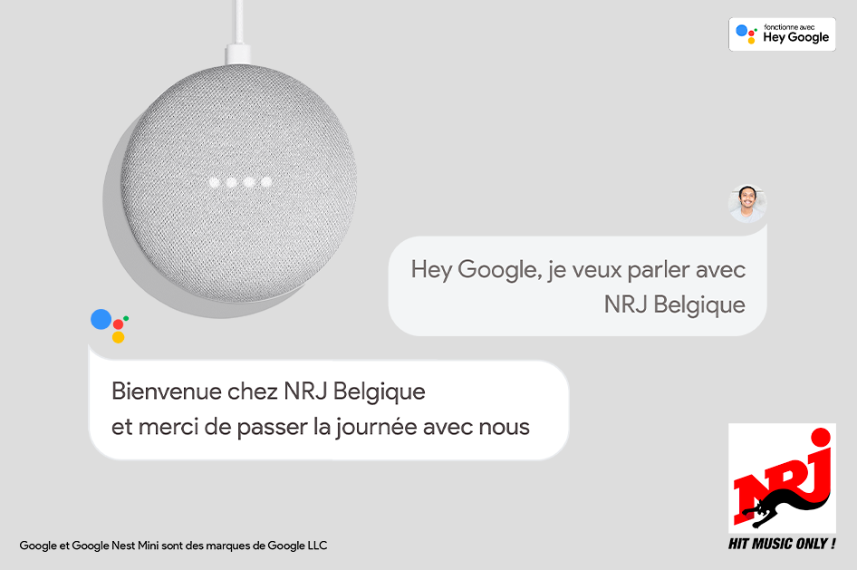 NRJ voice bot google assistant press release - image rights owned by NRJ