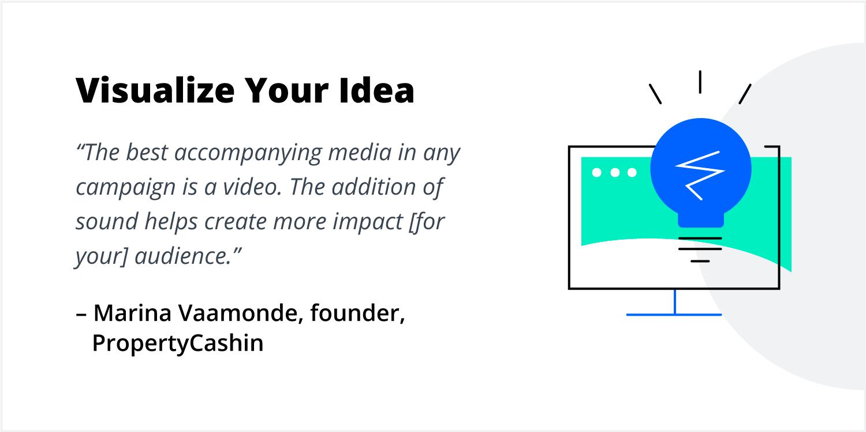 Marina Vaamonde shares her ideas on crowdfunding tips