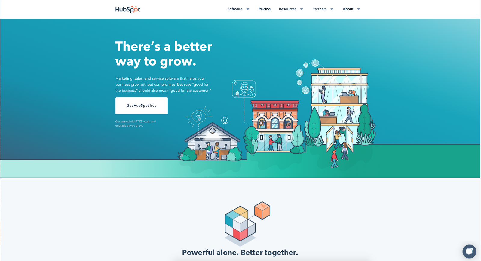 new hubspot homepage