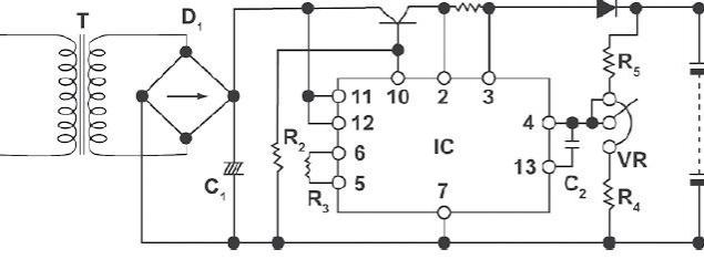 一种铅酸电池充电器电路