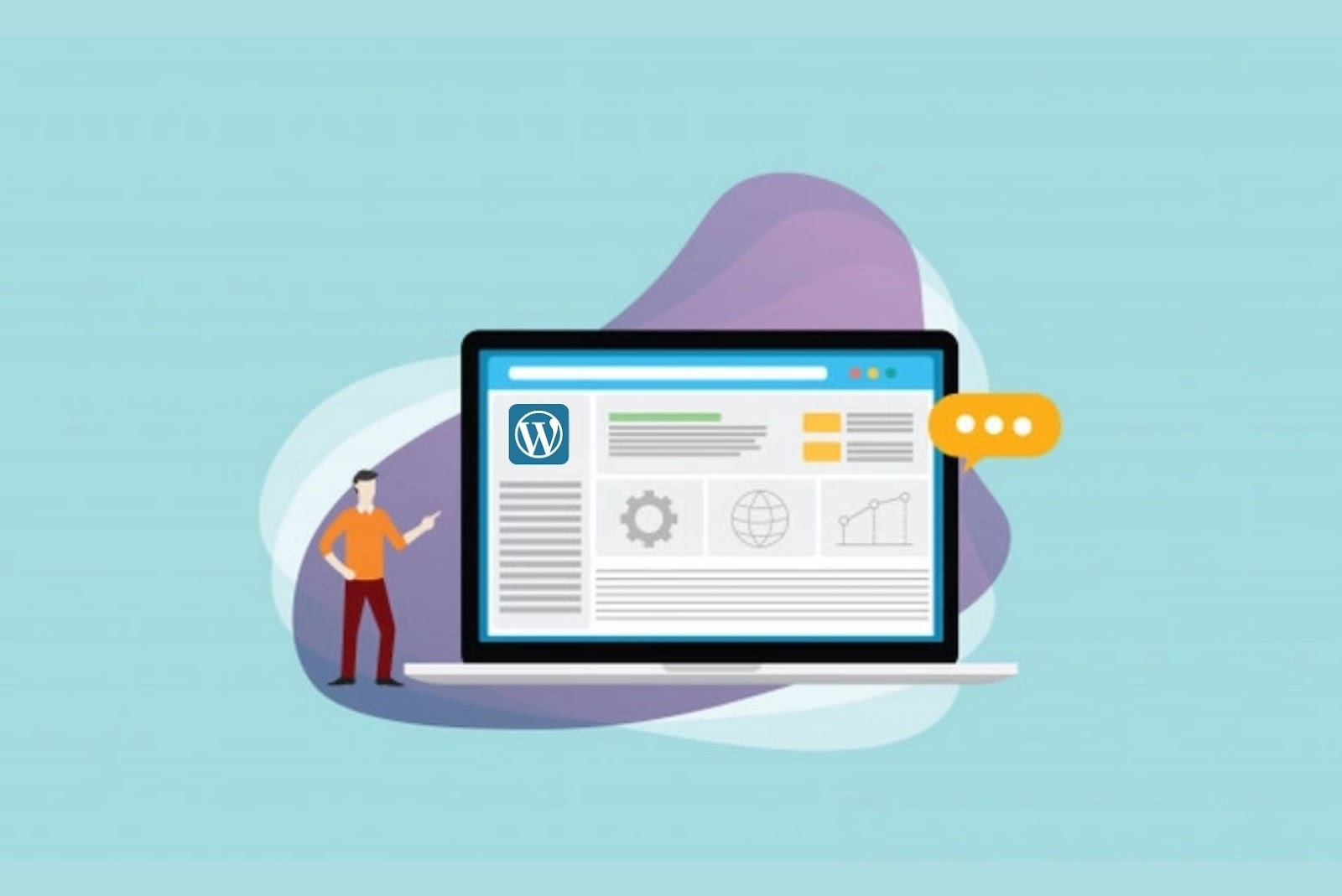 Wordpress for content management system
