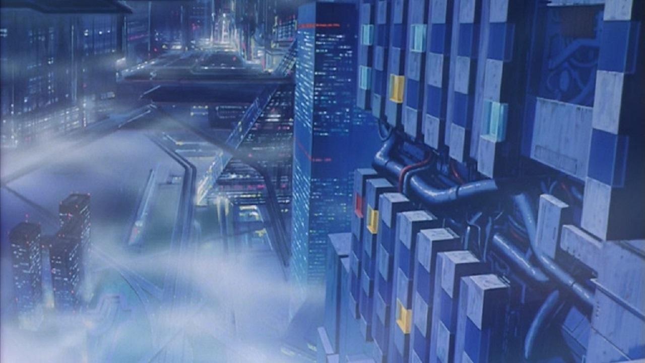 Кадр из аниме «Кибер-город Эдо», режиссёр Ёсиаки Кавадзири
