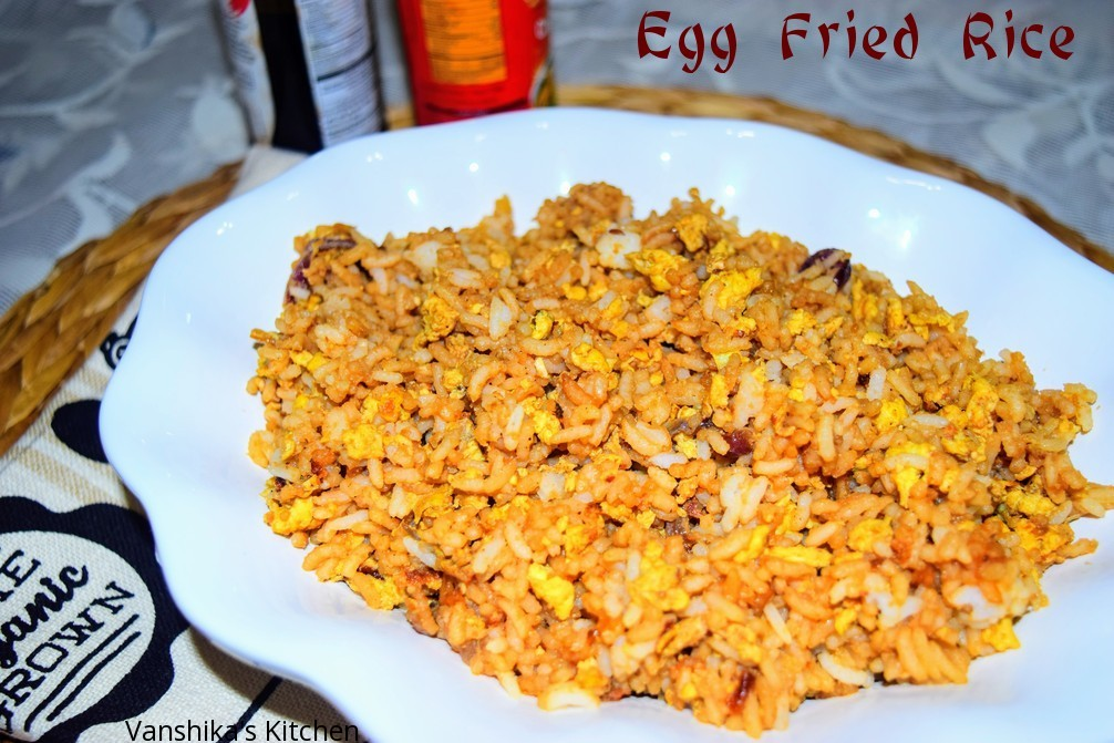 Egg Fried Rice (Indo Chinese Style)