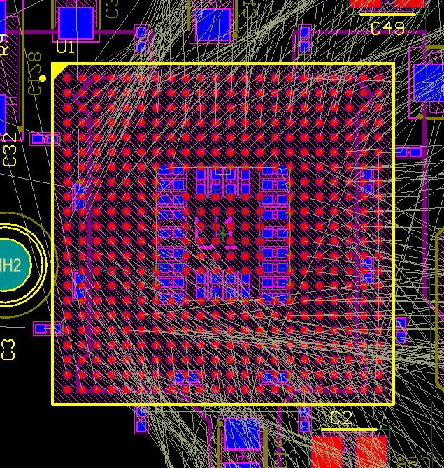 fpga-with-crossover-connections PCB-Routing mit Pin-Austausch vereinfachen: Beispiel von FPGA mit Überkreuzverbindungen