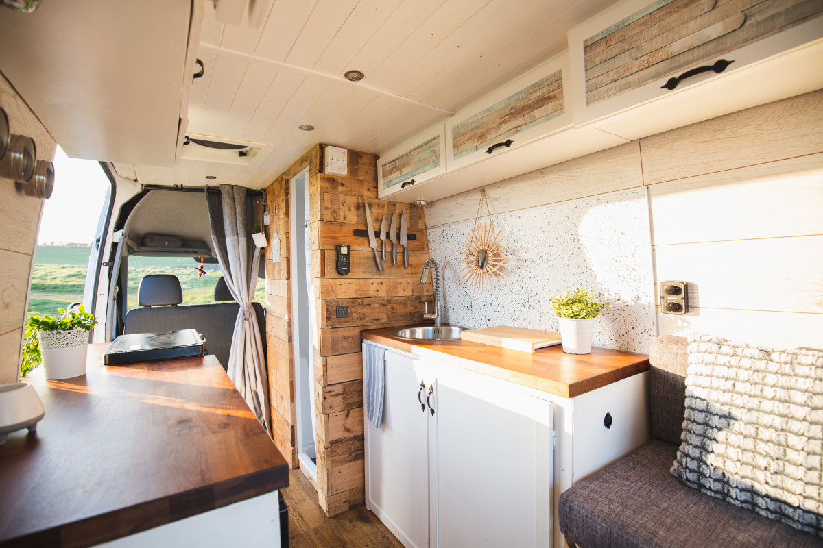 Campervan available to hire through quirky campers