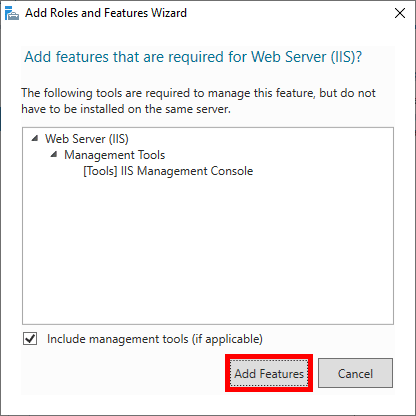 Add IIS Features