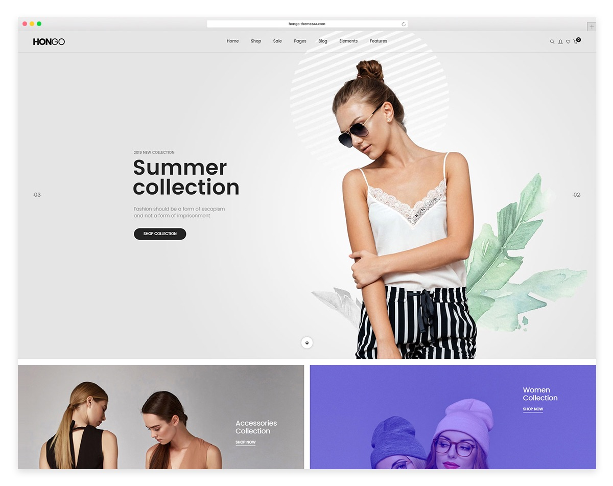 Hongo - fashion ecommerce wordpress themes