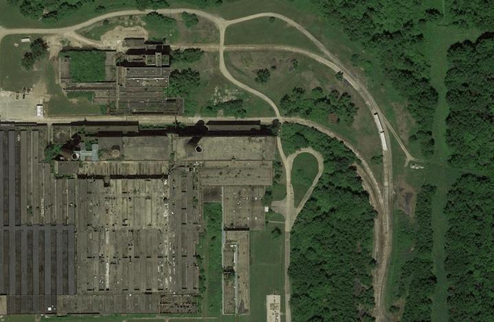 half abandoned factory