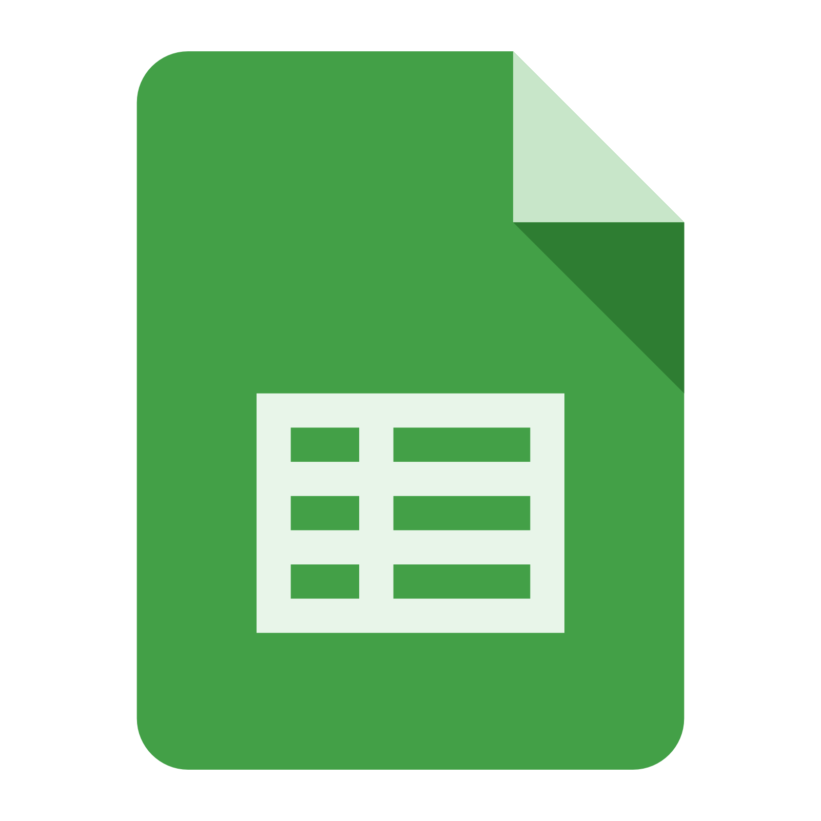Image result for google sheets icon