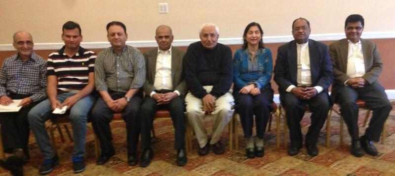 GOPIO NJ Chapter officials with GOPIO Inttl officers