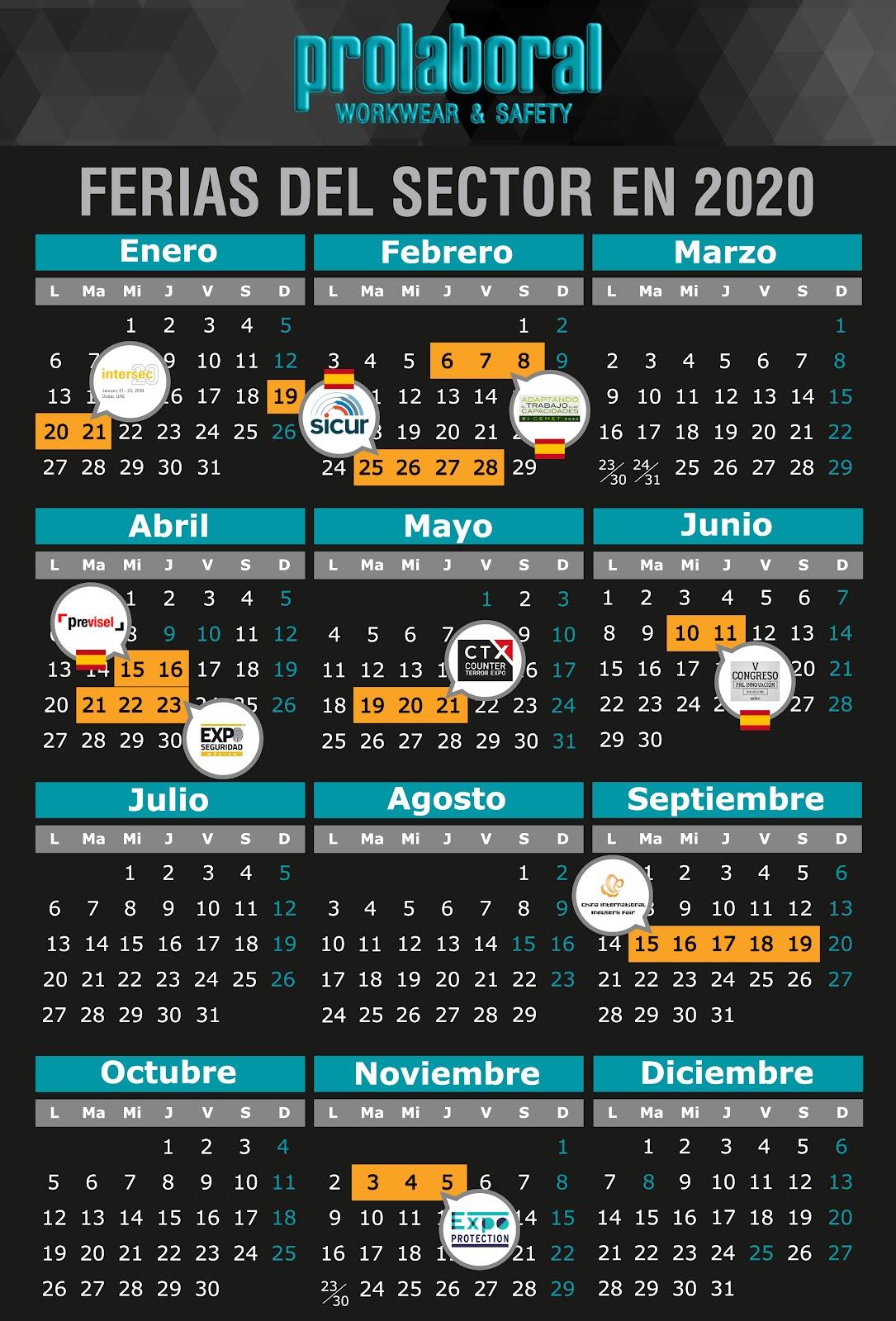 Calendario ferias seguridad y salud en el trabajo